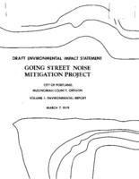 Draft environmental impact statement for the Going Street Noise Mitigation Project,...