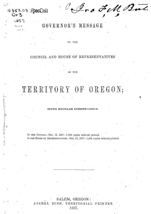 This archived document is maintained by the Oregon State Library as part of the Oregon Documents Depository Program.  It is for informational purposes and may not be suitable for legal purposes., Title from title page., Mode of access: Internet from the Oregon Government Publications Collection., Text in English.
