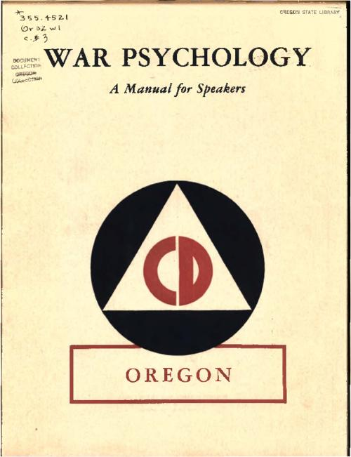 "This archived document is maintained by the Oregon State Library as part of the Oregon Documents Depository Program.  It is for informational purposes and may not be suitable for legal purposes., ""Office of Civilian Defense, Washington, D.C., publications"": p. [24], Bibliography: p. [24], Mode of access: Internet from the Oregon Government Publications Collection."