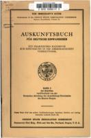 Auskunftsbuch für deutsche Einwanderer: ein praktisches Handbuch zur Einführung...