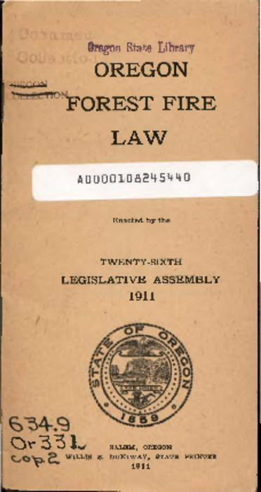 This archived document is maintained by the Oregon State Library as part of the Oregon Documents Depository Program.  It is for informational purposes and may not be suitable for legal purposes., Also includes: Oregon fish laws for 1911, Mode of access: Internet from the Oregon Government Publications Collection.