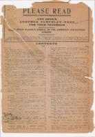 [Pamphlet issued in 1910, containing Judge McGinn's speech against the assembly...