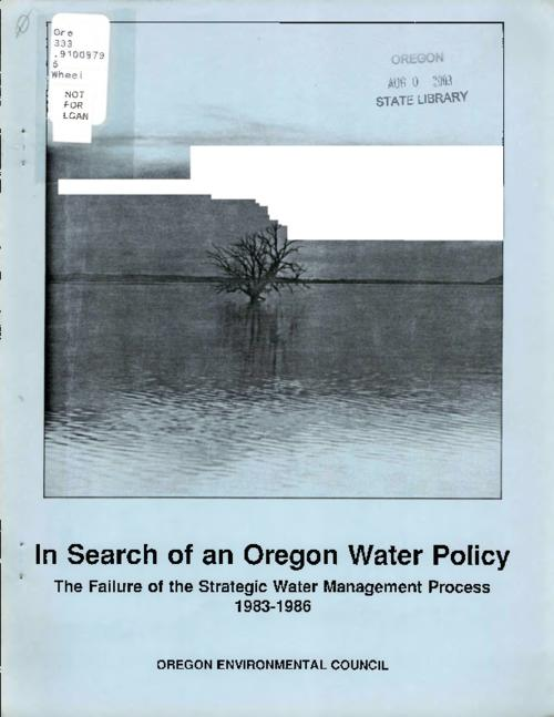 "This archived document is maintained by the Oregon State Library as part of the Oregon Documents Depository Program.  It is for informational purposes and may not be suitable for legal purposes., ""This report was funded in part by a grant from the Oregon Environmental Foundation."", Mode of access: Internet from the Oregon Government Publications Collection."