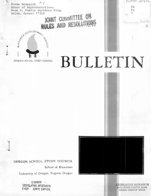 "This archived document is maintained by the Oregon State Library as part of the Oregon Documents Depository Program.  It is for informational purposes and may not be suitable for legal purposes., ""November, 1963."", Includes bibliographical references, Mode of access: Internet from the Oregon Government Publications Collection."