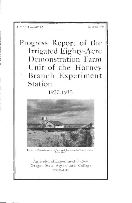 "This archived document is maintained by the Oregon State Library as part of the Oregon Documents Depository Program.  It is for informational purposes and may not be suitable for legal purposes., Cover title, ""October, 1930."", Mode of access: Internet from the Oregon Government Publications Collection."