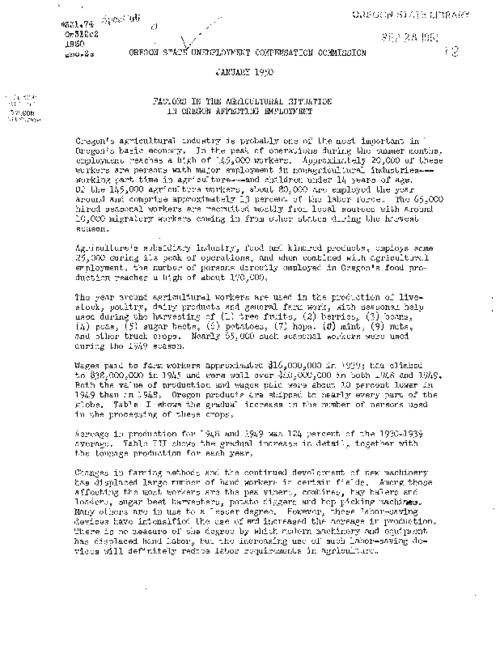 "This archived document is maintained by the Oregon State Library as part of the Oregon Documents Depository Program.  It is for informational purposes and may not be suitable for legal purposes., Title from caption, ""January 1950."", Mode of access: Internet from the Oregon Government Publications Collection."
