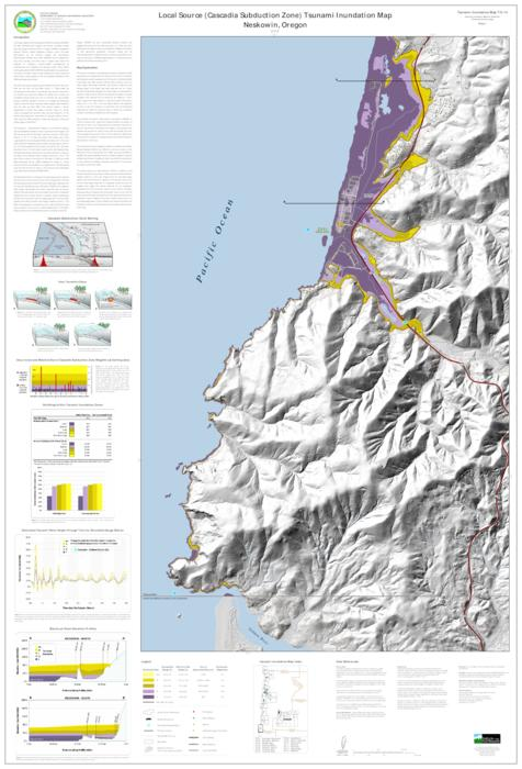 Tsunami Inundation Maps For Neskowin Tillamook County Oregon