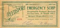 Reedsport emergency scrip: 25 cents