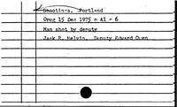 Portland. Shootings - Portland. Snowfall. History
