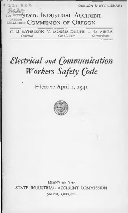 "Title from PDF cover (viewed on July 31, 2018)., ""Effective April 1, 1941."", This archived document is maintained by the State Library of Oregon as part of the Oregon Documents Depository Program. It is for informational purposes and may not be suitable for legal purposes., Mode of access: Internet from the Oregon Government Publications Collection., Text in English."