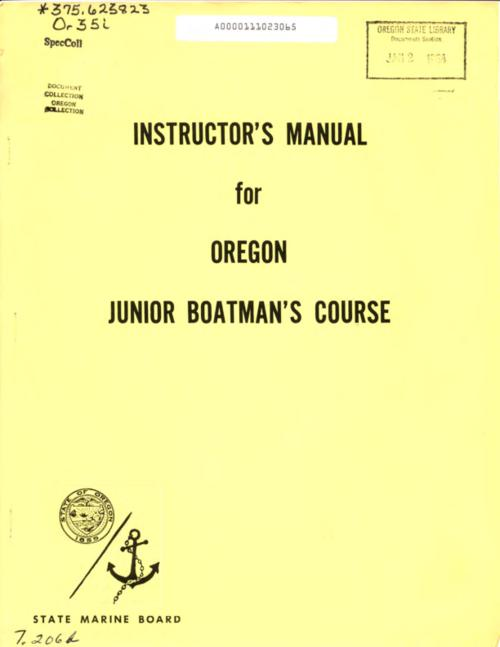 Title from PDF cover (viewed on August 2, 2018)., This archived document is maintained by the State Library of Oregon as part of the Oregon Documents Depository Program. It is for informational purposes and may not be suitable for legal purposes., Mode of access: Internet from the Oregon Government Publications Collection., Text in English.