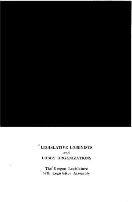 "This archived document is maintained by the Oregon State Library as part of the Oregon Documents Depository Program.  It is for informational purposes and may not be suitable for legal purposes., ""February 26, 1973""--Cover letter, ""The Oregon Legislative 57th Legislative Assembly."", Mode of access: Internet from the Oregon Government Publications Collection."