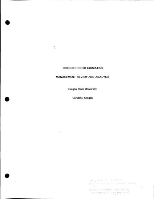 This archived document is maintained by the Oregon State Library as part of the Oregon Documents Depository Program.  It is for informational purposes and may not be suitable for legal purposes., Recommendations submitted to the State of Oregon Legislative Fiscal Committee, December 17, 1969., Mode of access: Internet from the Oregon Government Publications Collection.