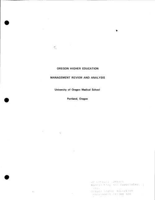 This archived document is maintained by the Oregon State Library as part of the Oregon Documents Depository Program.  It is for informational purposes and may not be suitable for legal purposes., Recommendations submitted to the State of Oregon Legislative Fiscal Committee, February 6, 1970, Mode of access: Internet from the Oregon Government Publications Collection.
