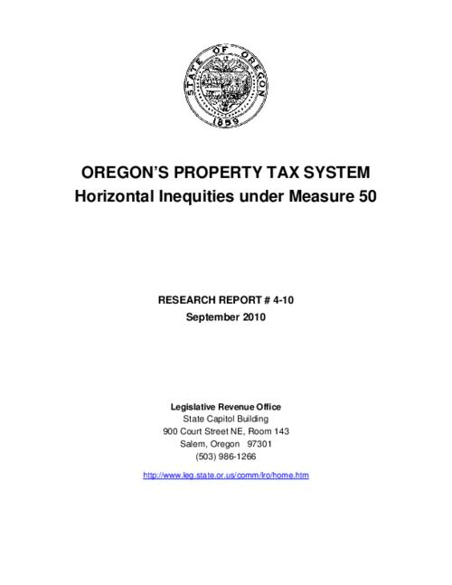 "This archived document is maintained by the Oregon State Library as part of the Oregon Documents Depository Program.  It is for informational purposes and may not be suitable for legal purposes., Title from PDF cover (viewed on Feb. 11, 2013), ""September 2010."", Mode of access: Internet from the Oregon Government Publications Collection."