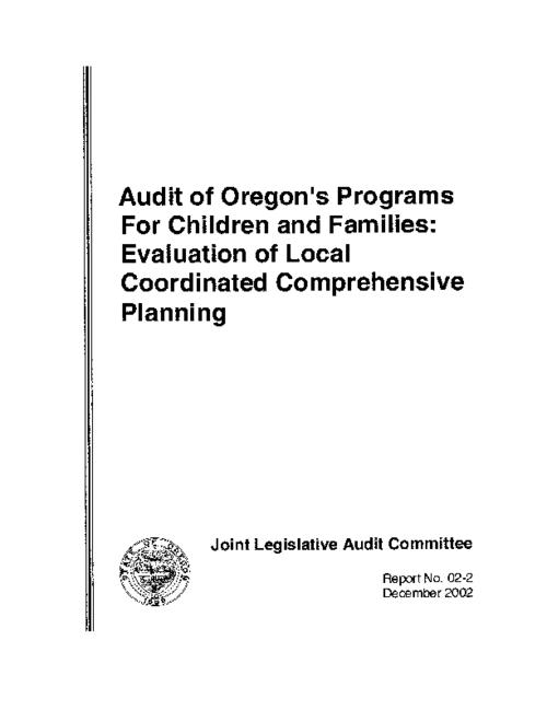 "This archived document is maintained by the Oregon State Library as part of the Oregon Documents Depository Program.  It is for informational purposes and may not be suitable for legal purposes., ""December 2002."", Mode of access: Internet from the Oregon Government Publications Collection."