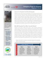 Emergency power for hospitals. Preparing for Cascadia