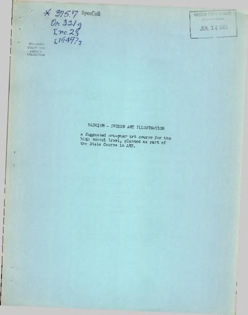 This archived document is maintained by the Oregon State Library as part of the Oregon Documents Depository Program.  It is for informational purposes and may not be suitable for legal purposes., Mode of access: Internet from the Oregon Government Publications Collection., Text in English.