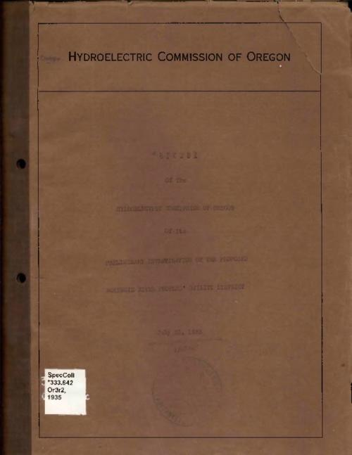 This archived document is maintained by the Oregon State Library as part of the Oregon Documents Depository Program.  It is for informational purposes and may not be suitable for legal purposes., Title from PDF caption (viewed on June 30, 2016)., Mode of access: Internet from the Oregon Government Publications Collection., Text in English.