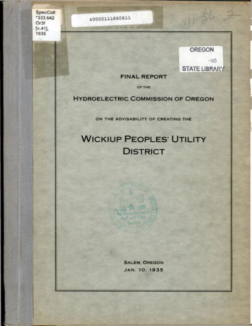 This archived document is maintained by the Oregon State Library as part of the Oregon Documents Depository Program.  It is for informational purposes and may not be suitable for legal purposes., Title from PDF cover (viewed on July 25, 2016)., Mode of access: Internet from the Oregon Government Publications Collection., Text in English.