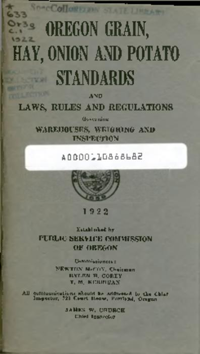 This archived document is maintained by the Oregon State Library as part of the Oregon Documents Depository Program.  It is for informational purposes and may not be suitable for legal purposes., Title from PDF cover (viewed on June 8, 2016)., Includes index., Mode of access: Internet from the Oregon Government Publications Collection., Text in English.