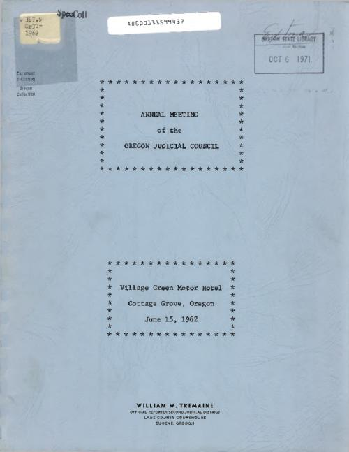 This archived document is maintained by the Oregon State Library as part of the Oregon Documents Depository Program.  It is for informational purposes and may not be suitable for legal purposes., Title from PDF cover (viewed on June 23, 2016)., Typed transcript of the annual meeting., Mode of access: Internet from the Oregon Government Publications Collection., Text in English.