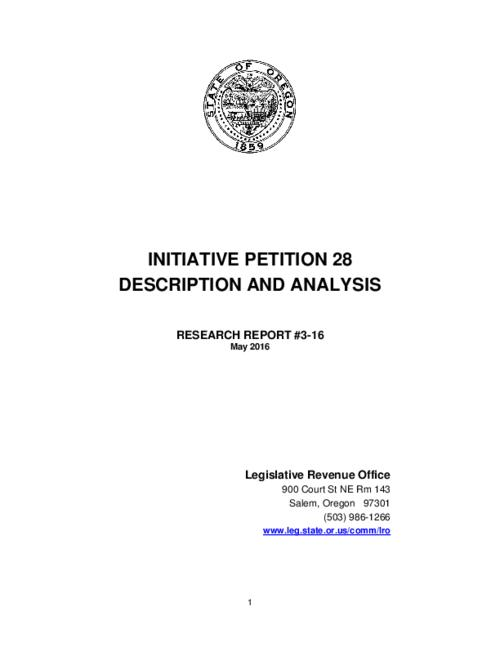 This archived document is maintained by the Oregon State Library as part of the Oregon Documents Depository Program.  It is for informational purposes and may not be suitable for legal purposes., Title from PDF cover (viewed on May 27, 2016)., IP 28 would amend Oregon's corporate minimum tax statute (ORS 317.090)., Mode of access: Internet from the Oregon Government Publications Collection., Text in English.