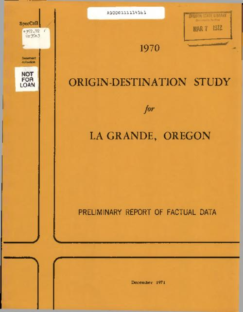 This archived document is maintained by the Oregon State Library as part of the Oregon Documents Depository Program.  It is for informational purposes and may not be suitable for legal purposes., Title from PDF title page (viewed on June 23, 2016)., Mode of access: Internet from the Oregon Government Publications Collection., Text in English.