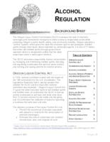 Alcohol regulation, Alcohol regulation background brief