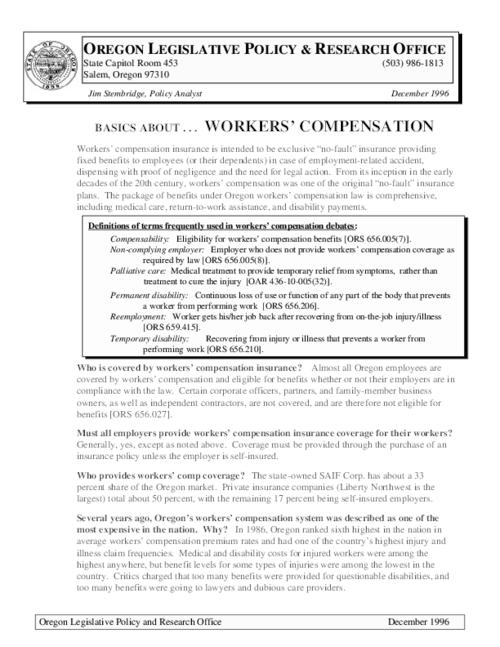 This archived document is maintained by the Oregon State Library as part of the Oregon Documents Depository Program.  It is for informational purposes and may not be suitable for legal purposes., Title from PDF caption (viewed on November 28, 2014), Mode of access: Internet from the Oregon Government Publications Collection., Text in English