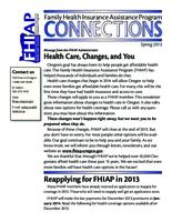 Family Health Insurance Assistance Program connections, FHIAP connections, Connections...