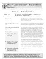 Ballot Measure 51, Basics on ... ballot measure 51