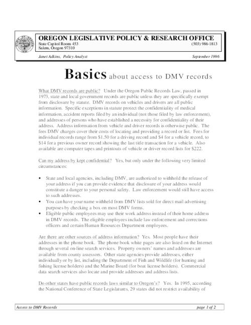 This archived document is maintained by the Oregon State Library as part of the Oregon Documents Depository Program.  It is for informational purposes and may not be suitable for legal purposes., Title from PDF caption (viewed on November 28, 2014), Includes bibliographical references, Mode of access: Internet from the Oregon Government Publications Collection., Text in English