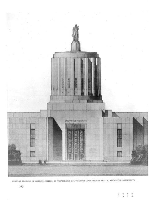 This archived document is maintained by the Oregon State Library as part of the Oregon Documents Depository Program.  It is for informational purposes and may not be suitable for legal purposes., In: Pencil points, July 1936, Mode of access: Internet from the Oregon Government Publications Collection.