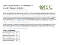 Invasive species in Oregon, report card, Report card, OISC report card, Report...