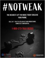 #notweak: the heaviest lift you make today could be your phone, Not weak: the...
