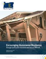 Encouraging homeowner resilience through earthquake insurance and seismic retrofit...