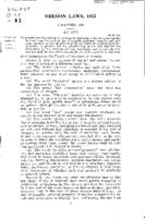 Oregon laws, 1933. Chapter 400. An act to provide for the raising of revenue...