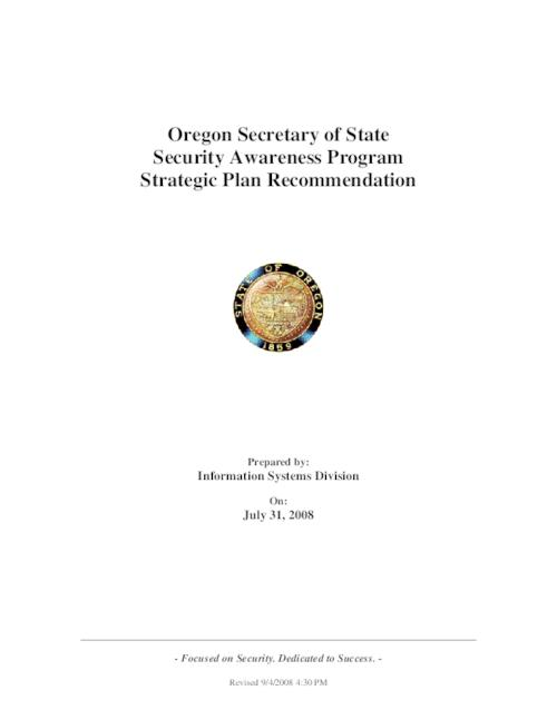 This archived document is maintained by the Oregon State Library as part of the Oregon Documents Depository Program.  It is for informational purposes and may not be suitable for legal purposes., Title from PDF cover (viewed on September 2, 2014), Converted from Word, Mode of access: Internet from the Oregon Government Publications Collection., Text in English
