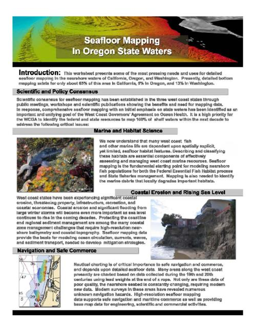 "Title from PDF caption (viewed on October 30, 2018)., ""Oregon Workshop sponsors/convenors: Oregon Dept. of Fish and Wildlife, Oregon Governors' Office, Oregon State University, OSU Cooperative Institute for Marine Resources Studies, NOAA National Marine Fisheries Service, NOAA Oregon Sea Grant""--Page 2., This archived document is maintained by the State Library of Oregon as part of the Oregon Documents Depository Program. It is for informational purposes and may not be suitable for legal purposes., Mode of access: Internet from the Oregon Government Publications Collection., Text in English."