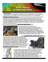 Seafloor mapping in Oregon state waters