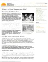 History of food stamps and SNAP, History of food stamps and Supplemental Nutrition...