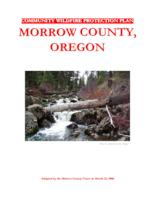 Community wildfire protection plan, Morrow County, Oregon