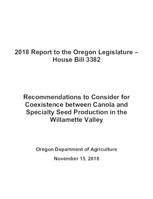 Title from PDF cover (viewed on November 27, 2018)., This archived document is maintained by the State Library of Oregon as part of the Oregon Documents Depository Program. It is for informational purposes and may not be suitable for legal purposes., Includes bibliographical references., Mode of access: Internet from the Oregon Government Publications Collection., Text in English.