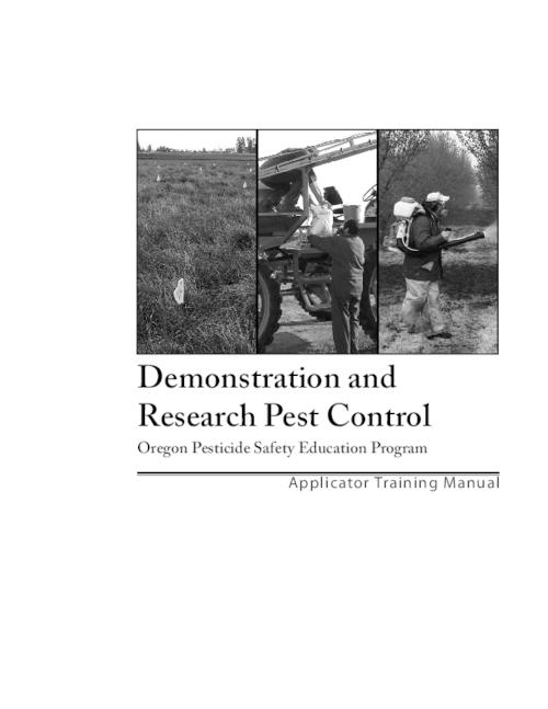 "Title from PDF cover (viewed on November 28, 2018)., ""This manual was developed using pesticide safety education materials, Extension manuals and publications from Texas Cooperative Extension, the University of California at Davis; the Universities of Georgia, Illinois, Kentucky, Tennessee, Missouri and Nebraska; and from Iowa State, North Carolina State, Oklahoma State and Washington State Universities. Oregon Department of Agriculture reproduced portions of this manual with permission of the copyright holders: The Texas A&M University System and The Regents of the University of California""--Page 5., This archived document is maintained by the State Library of Oregon as part of the Oregon Documents Depository Program. It is for informational purposes and may not be suitable for legal purposes., Mode of access: Internet from the Oregon Government Publications Collection., Text in English."