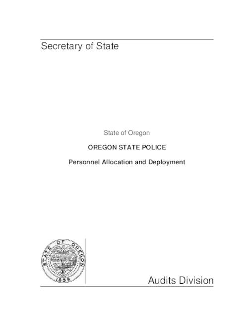 "This archived document is maintained by the Oregon State Library as part of the Oregon Documents Depository Program.  It is for informational purposes and may not be suitable for legal purposes., ""June 16, 2000."", ""No. 2000-22."", Mode of access: Internet from the Oregon Government Publications Collection."