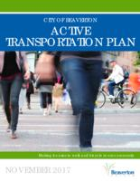 City of Beaverton active transportation plan: making it easier to walk and bicycle...