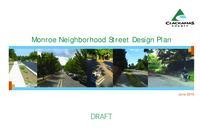 Monroe neighborhood street design plan
