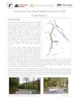 Cornelius Pass Road safety evaluation JTA final report, Cornelius Pass Road...