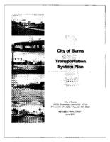 City of Burns transportation system plan